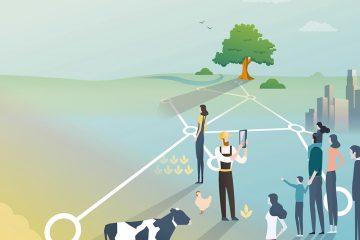 Titelseite acatech Horizonte zum Thema Nachhaltige Landwirtschaft