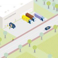 Bündelung von Lieferungen in Logistik-Hubs außerhalb der Städte
