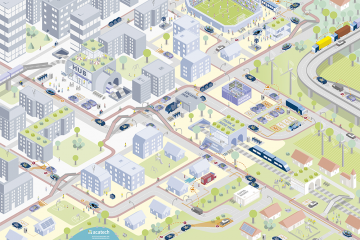 """Zielbild des acatech Projekts """"Neue autoMobilität"""""""