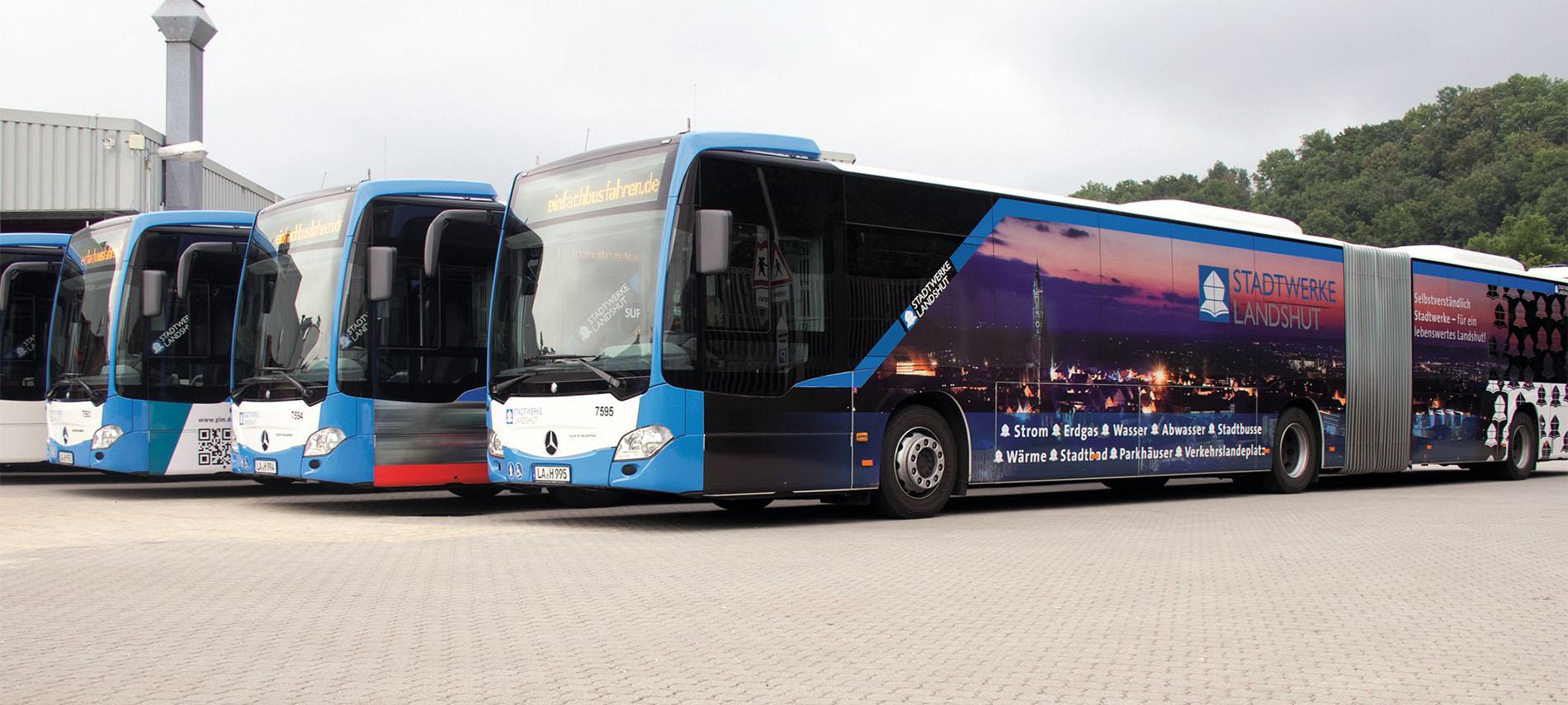 Busse der Stadtwerke Landshut
