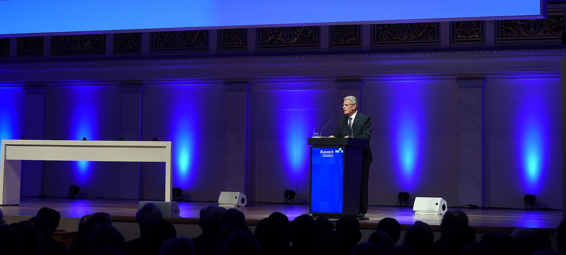 Bundespräsident Joachim Gauck bei der acatech Festveranstaltung 2016
