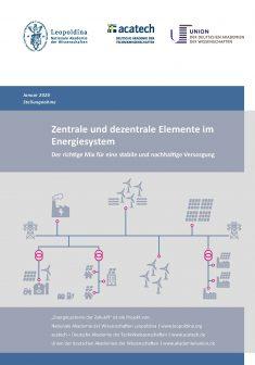"""Titelbild der Publikation """"Zentrale und dezentrale Elemente im Energiesystem"""""""