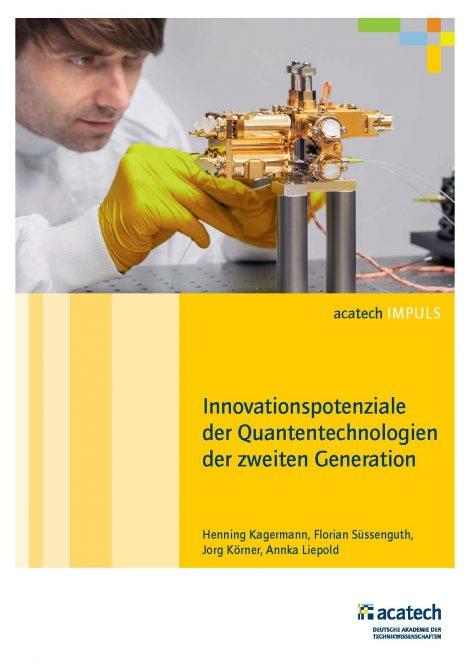 """Titelbild der Publikation """"Innovationspotenziale der Quantentechnologien der zweiten Generation"""""""