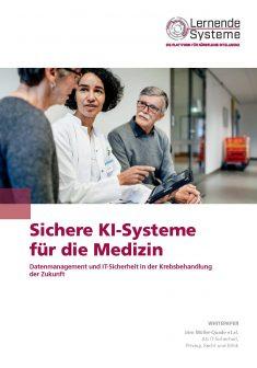"""Titelbild der Publikation """"Sichere KI-Systeme für die Medizin"""""""