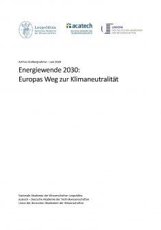 """Titelbild der Publikation """"Energiewende 2030: Europas Weg zur Klimaneutralität"""""""