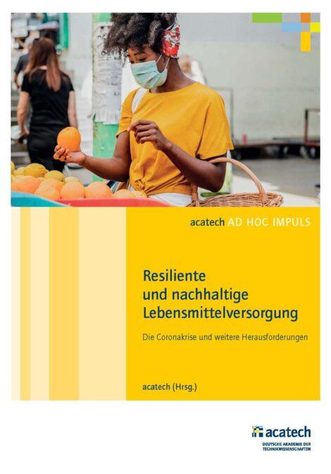 """Titelbild der Publikation """"Resiliente und nachhaltige Lebensmittelversorgung"""""""