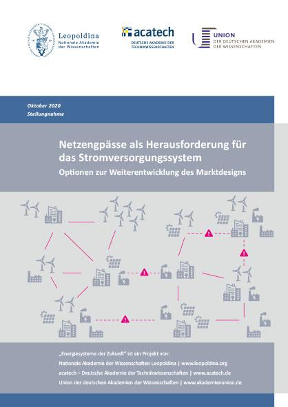 """Titelbild der Publikation """"Netzengpässe als Herausforderung für das Stromversorgungssystem"""""""