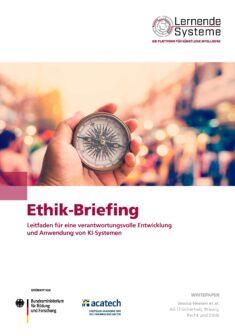 """Titelbild der Publikation """"Ethik-Briefing"""""""