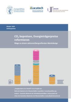 """Titelbild der Publikation """"CO2 bepreisen, Energieträgerpreise reformieren"""""""
