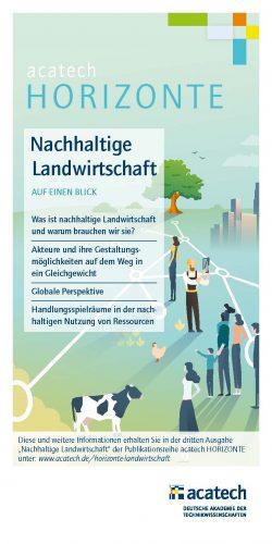 Titelbild acatech HORIZONTE Flyer Nachhaltige Landwirtschaft