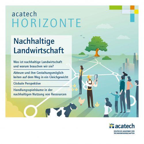 Titelbild acatech HORIZONTE Publikation Nachhaltige Landwirtschaft