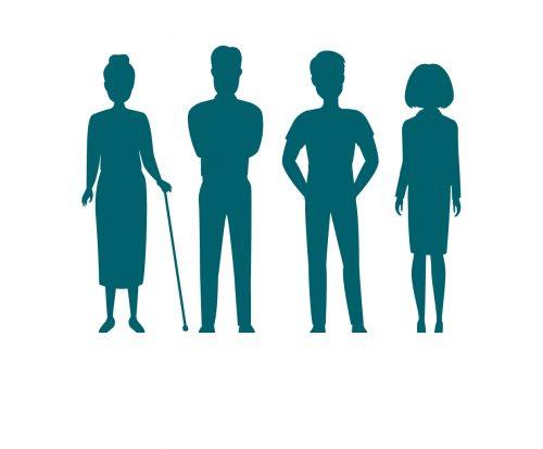 Grafik mit Personen