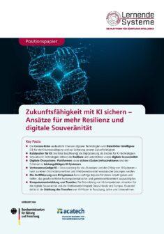 """Titelbild der Publikation """"Zukunftsfähigkeit mit KI sichern"""""""
