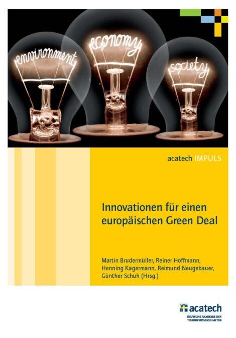 """Titelbild der Publikation """"Innovationen für einen europäischen Green Deal"""""""