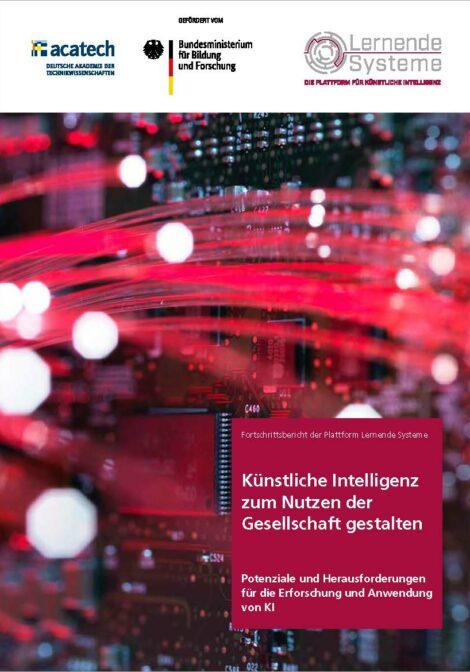 """Titelbild der Publikation """"Künstliche Intelligenz zum Nutzen der Gesellschaft gestalten"""""""