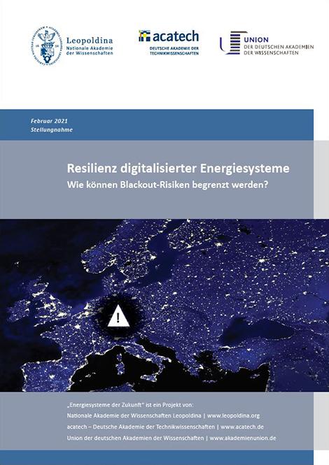 """Titelbild der Publikation """"Resilienz digitalisierter Energiesysteme"""""""