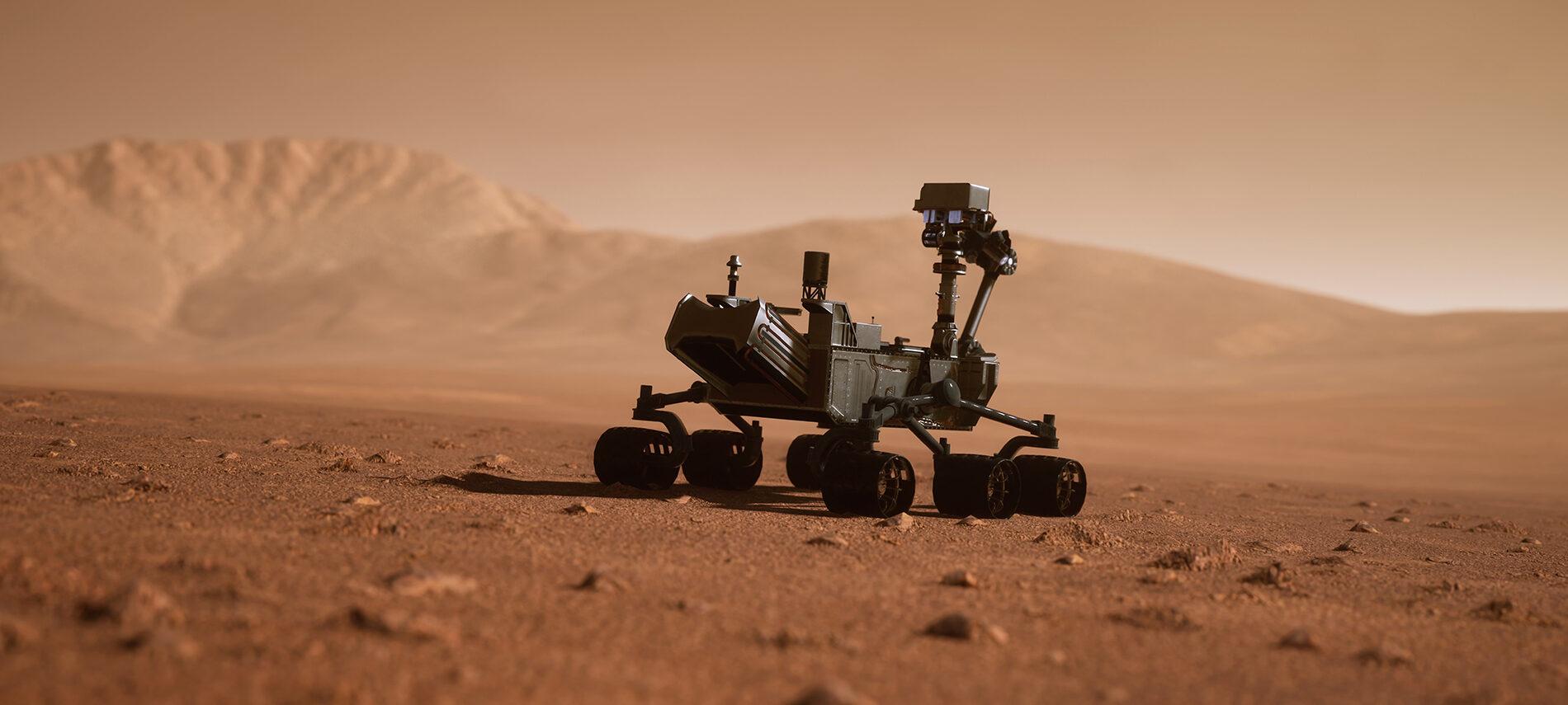 Foto Roboter in der Wüste