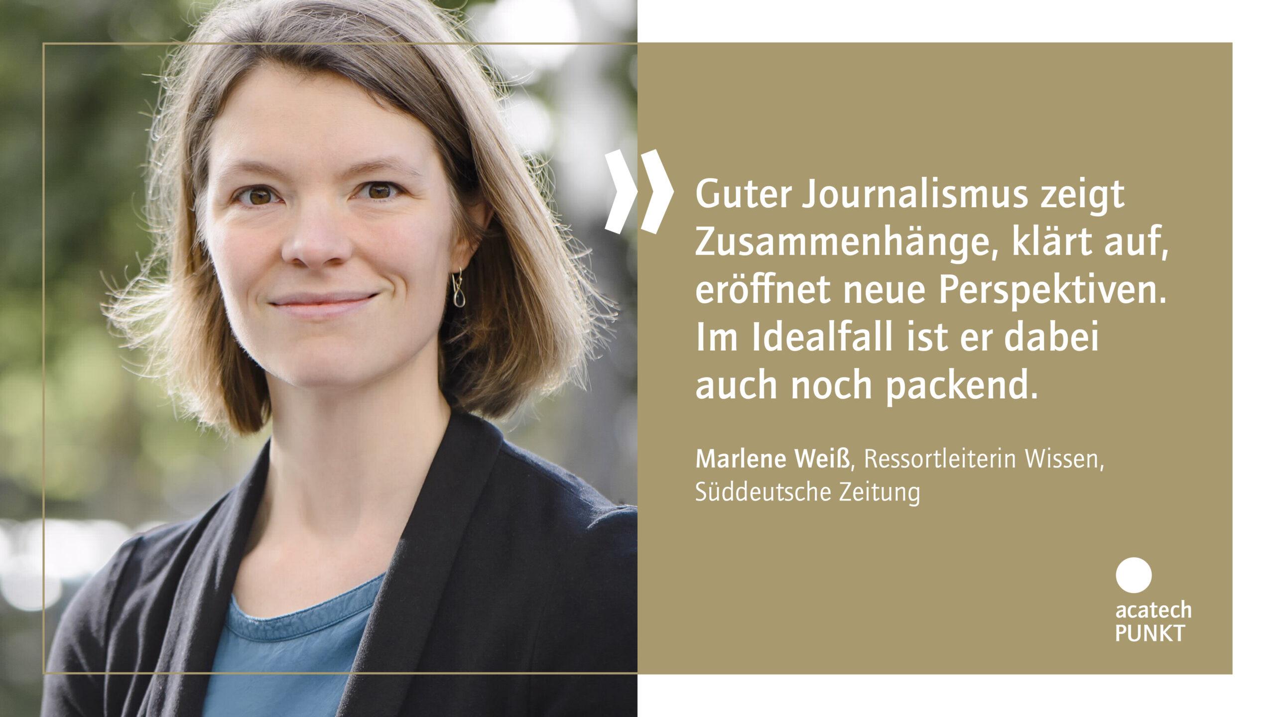 Zitatkarte mit Portraitbild Marlene Weißt, Süddeutsche Zeitung