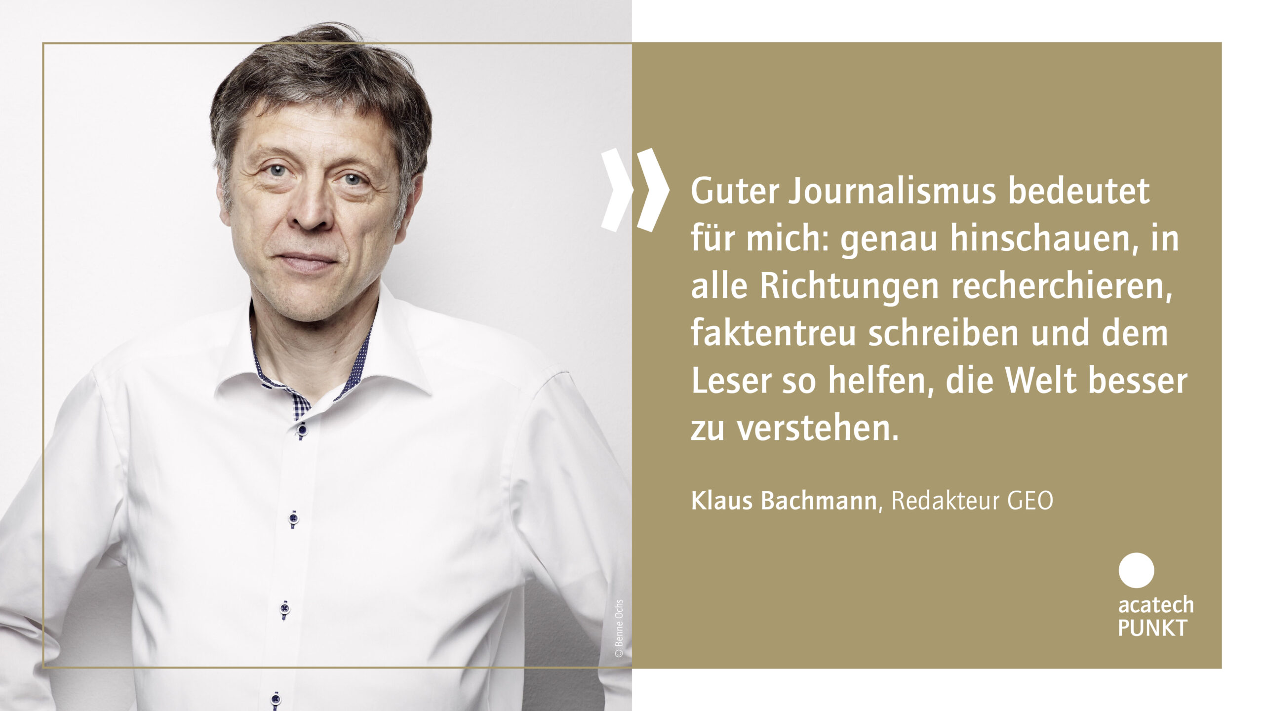 Zitatkarte mit Portraitbild Klaus Bachmann, GEO