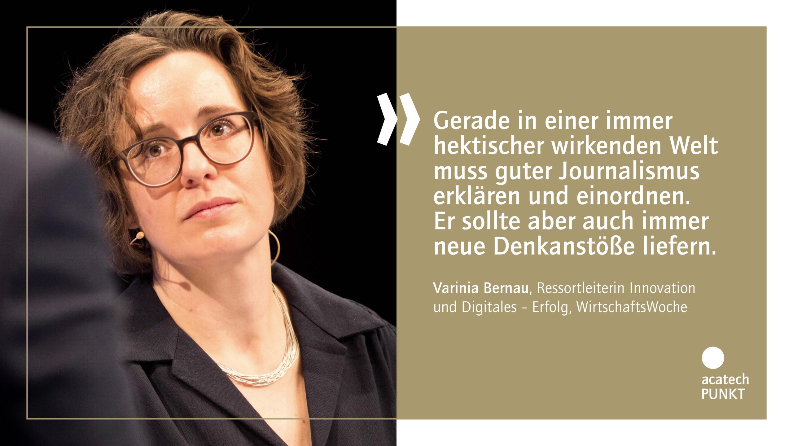 Zitatkarte mit Portraitbild Varinia Bernau, WirtschaftsWoche