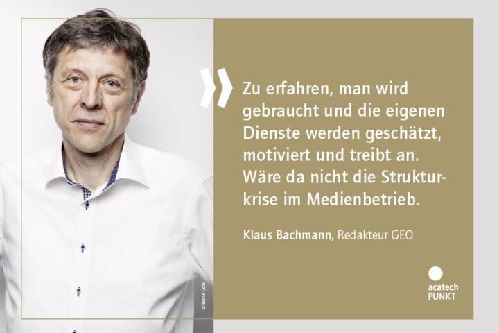 Klaus Bachmann mit Zitat