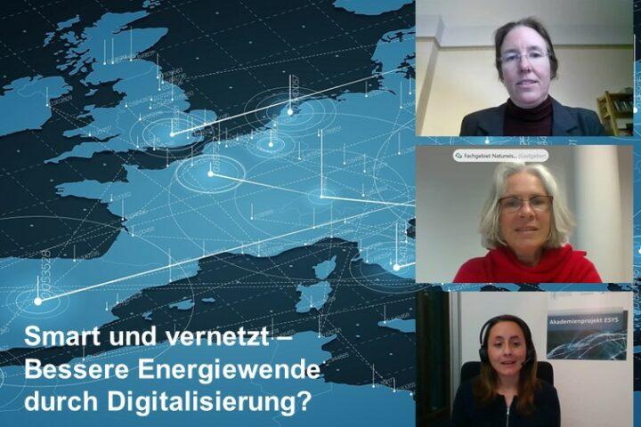Screenshot der Online-Veranstaltung, Kacheln mit Gesichtern diverser Teilnehmenden