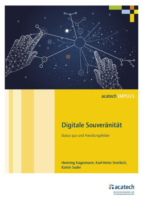 "Titelbild der Publikation ""Digitale Souveränität"""