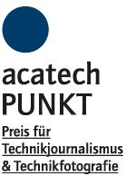 acatech Journalistenpreis Punkt Logo mit blauem Punkt