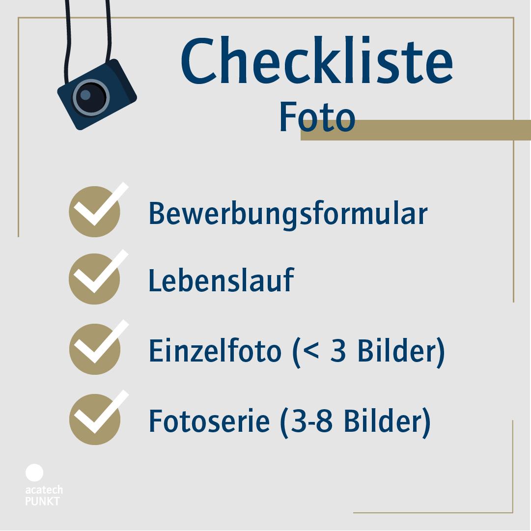 Checkliste Bewerbung Foto