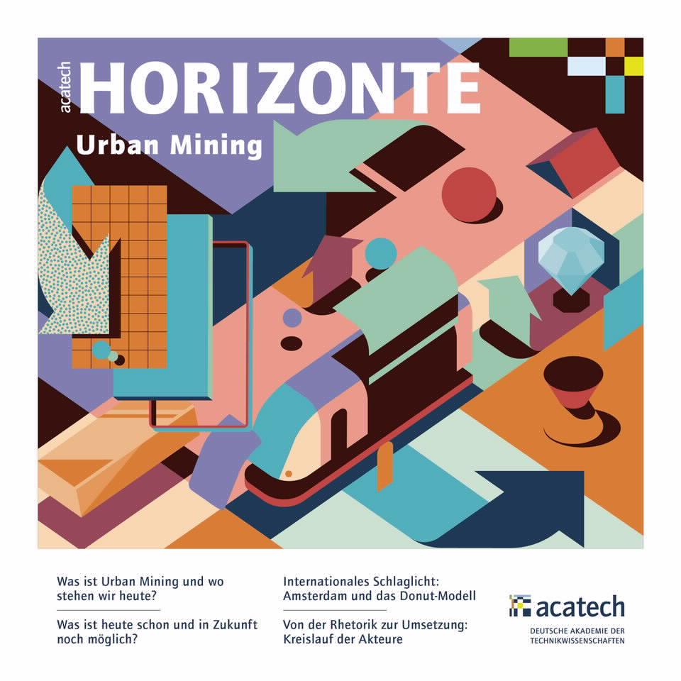 Cover der Publikation acatech Horizonte Urban Mining