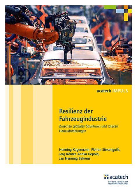 """Titelbild der Publikation """"Resilienz der Fahrzeugindustrie"""""""