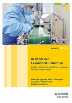 """Titelbild der Publikation """"Resilienz der Gesundheitsindustrien"""""""