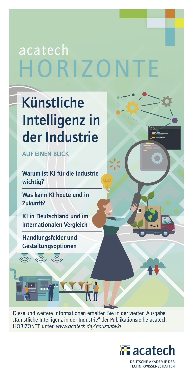 Titelgrafik HORIZONTE Flyer Künstliche Intelligenz in der Industrie