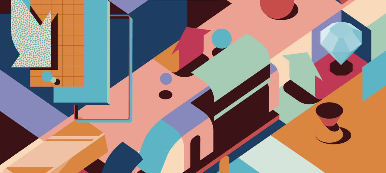 Abstrakte Darstellung eine Stadt