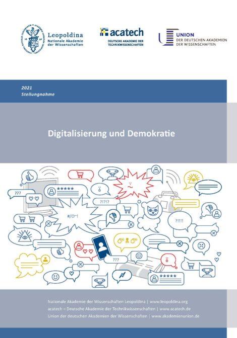 """Titelbild der Publikation """"Digitalisierung und Demokratie"""""""