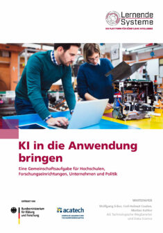 """Titelbild der Publikation """"KI in die Anwendung bringen"""""""