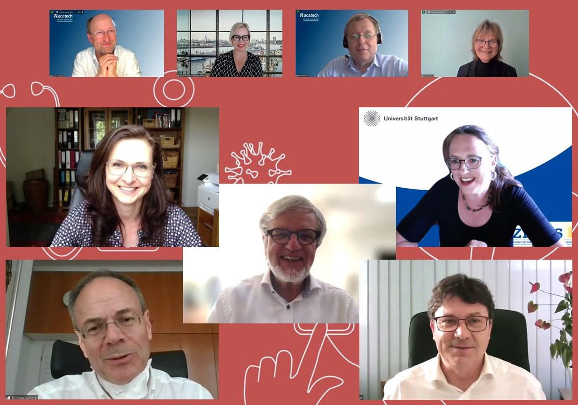 Screenshot aus digitaler Veranstaltung mit Gästen