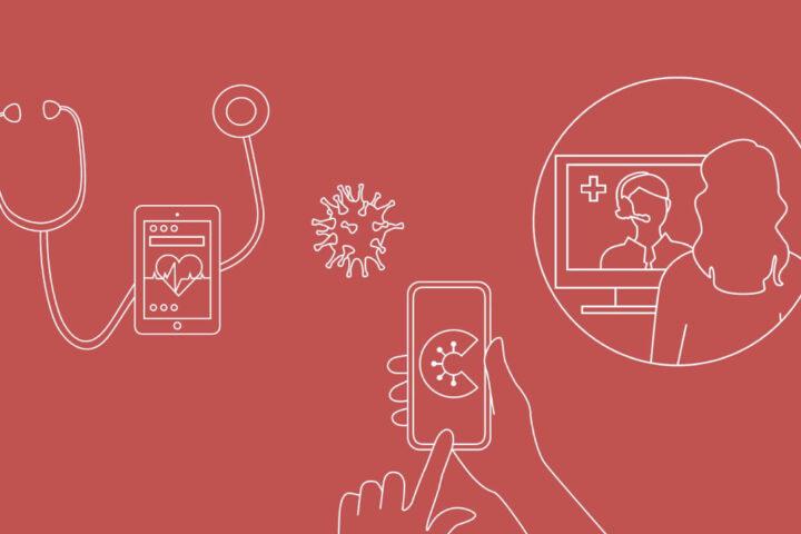 Grafik gezeichnet, digitale Anwendungen in der Medizin