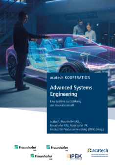 Cover Publikation Advanced Systems Engineering