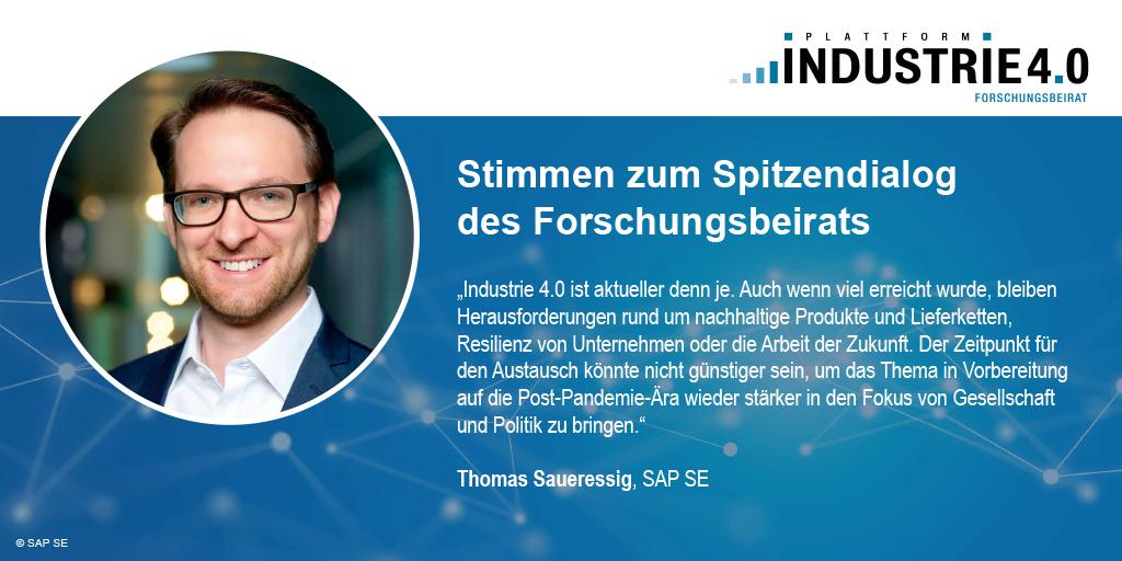Zitat von Thomas Saueressig zum Spitzendialog Industrie 4.0 / acatech