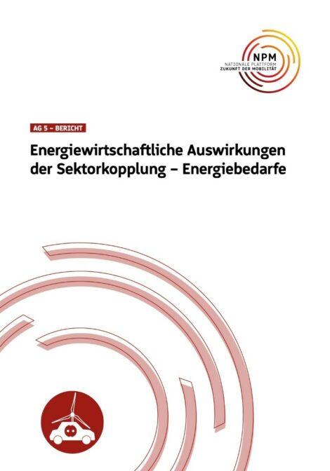 """Titelbild der Publikation """"Energiewirtschaftliche Auswirkungen der Sektorkopplung"""""""