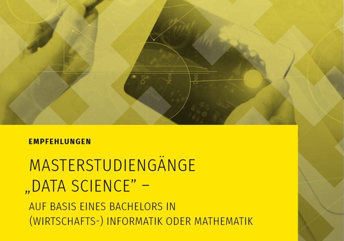 """Ausschnitt aus dem Cover der Publikation """"Empfehlungen Masterstudiengänge Data Science"""""""