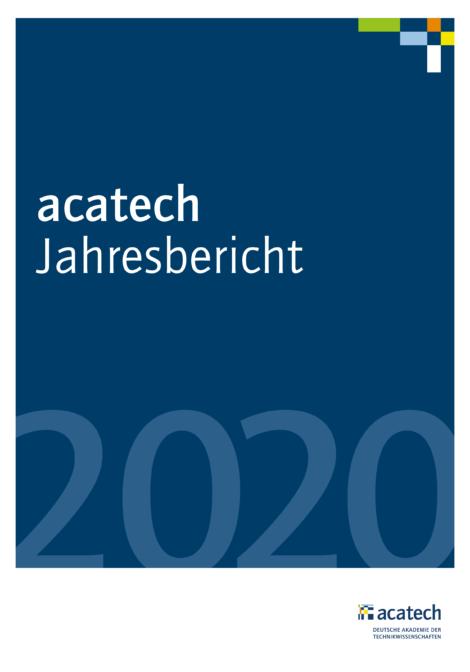 """Titelbild der Publikation """"acatech Jahresbericht 2020"""""""