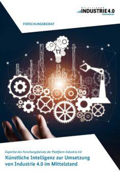 """Titelbild der Publikation """"Künstliche Intelligenz zur Umsetzung von Industrie 4.0 im Mittelstand"""""""