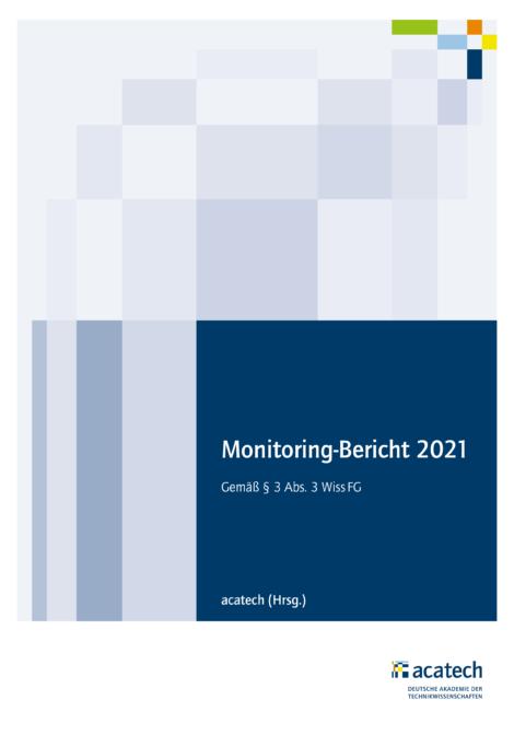 """Titelbild der Publikation """"Monitoring-Bericht 2021"""""""