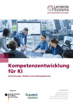 """Titelbild der Publikation """"Kompetenzentwicklung für KI"""""""