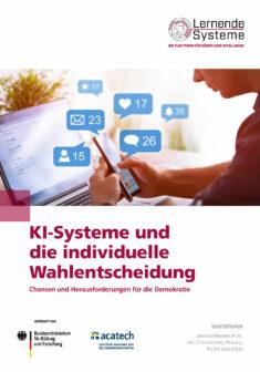 """Titelbild der Publikation """"KI-Systeme und die individuelle Wahlentscheidung"""""""
