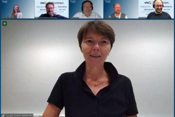 IT-Expertin Claudia Eckert (Lehrstuhl für Sicherheit in der Informatik an der TU München, Fraunhofer-Institut für Angewandte und Integrierte Sicherheit) sprach bei acatech am Dienstag über IT- Sicherheit und die Herausforderungen für Wissenschaft und Gesellschaft
