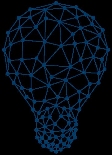 Abstrakte Grafik einer Glühbirne